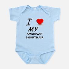american shorthair love Body Suit