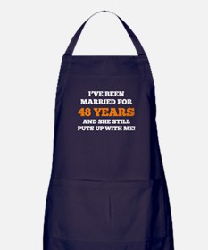 Ive Been Married For 48 Years Apron (dark)