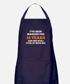 Ive Been Married For 34 Years Apron (dark)