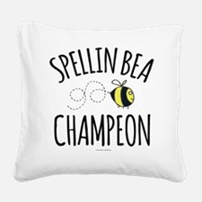 Spelling Bee Champion Square Canvas Pillow