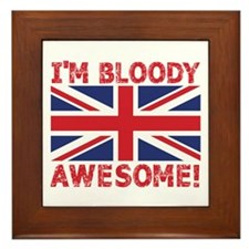 I'm Bloody Awesome! Union Jack Flag Framed Til