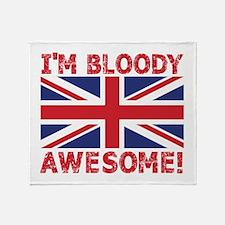 I'm Bloody Awesome! Union Jack Flag Throw Blanket