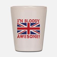 I'm Bloody Awesome! Union Jack Flag Shot Glass