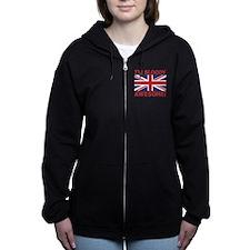 I'm Bloody Awesome! Union Jack Flag Women's Zip Ho