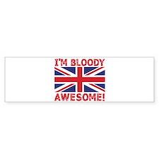 I'm Bloody Awesome! Union Jack Flag Bumper Bumper Sticker