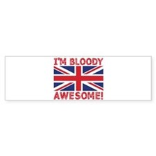 I'm Bloody Awesome! Union Jack Flag Bumper Car Sticker