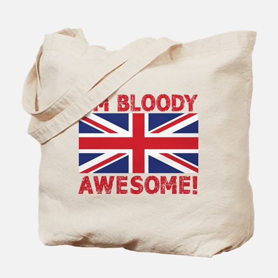 I'm Bloody Awesome! Union Jack Flag Tote Bag