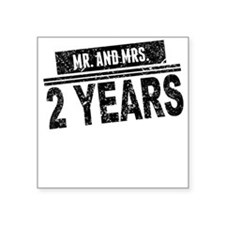 Mr. And Mrs. 2 Years Sticker