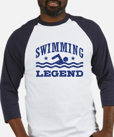 Swimming Legend Baseball Jersey