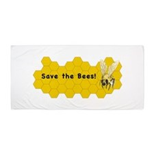 Save The Bees ~ Beach Towel