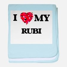 I love my Rubi baby blanket