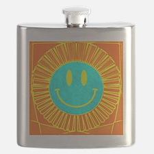 happy face lion Flask