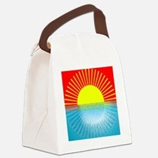 sunset over ripple water Canvas Lunch Bag