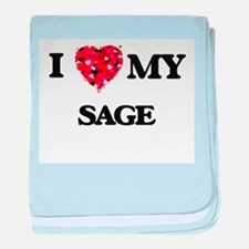I love my Sage baby blanket