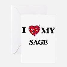 I love my Sage Greeting Cards