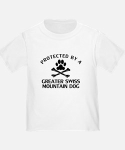 Protected By A Greater Swiss Mountain Dog T-Shirt