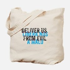 Deliver Us From Evil - English/Latin Tote Bag
