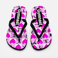 Gymnast Pink Love Flip Flops