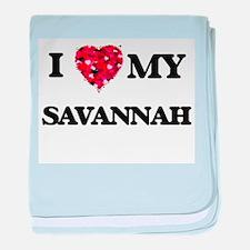 I love my Savannah baby blanket