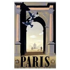 paris, vintage travel, france, french, vintage, tr Poster