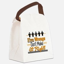 Five Wrongs Canvas Lunch Bag