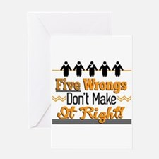 Five Wrongs Greeting Cards