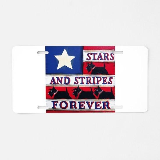 American Scotties Aluminum License Plate