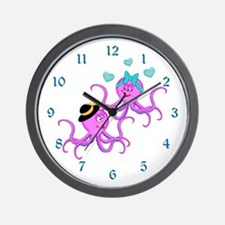Octopus Love - Wall Clock