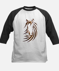 Brown Horse Head Baseball Jersey