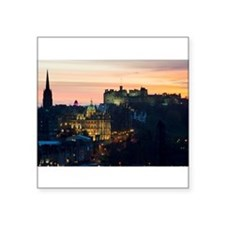 "Cute Edinburgh Square Sticker 3"" x 3"""