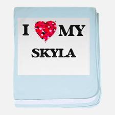 I love my Skyla baby blanket