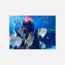 Underwater Fish Merchandise 5'x7'Area Rug