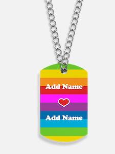 Rainbow Love Dog Tags