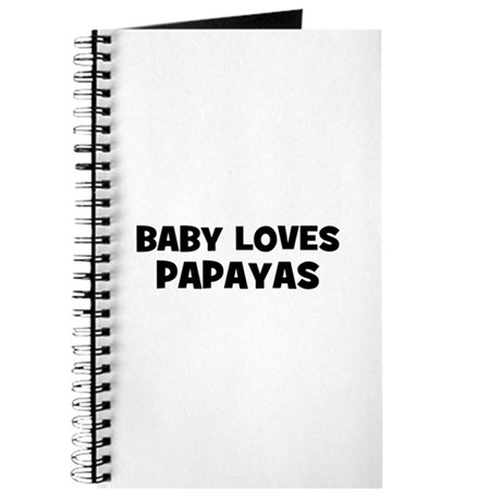 baby loves papayas Journal