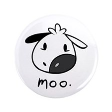 """Moo. Cow 3.5"""" Button (100 Pack)"""
