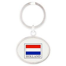 Holland Oval Keychain