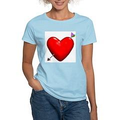Pierced Heart Tee Women's Pink T-Shirt