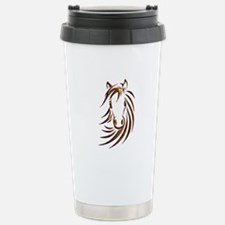 Brown Horse Head Stainless Steel Travel Mug