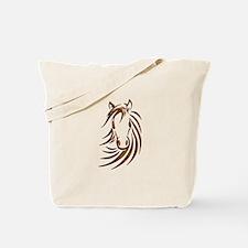 Brown Horse Head Tote Bag