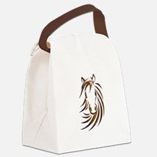 Brown Horse Head Canvas Lunch Bag