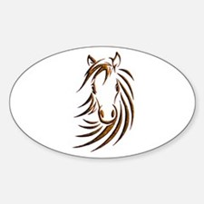 Brown Horse Head Decal
