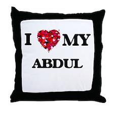 I love my Abdul Throw Pillow