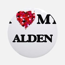 I love my Alden Ornament (Round)