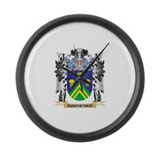 Ishchenko Coat of Arms - Family C Large Wall Clock