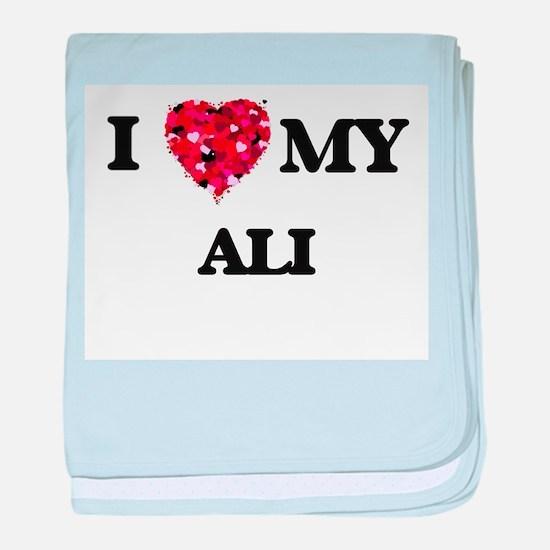 I love my Ali baby blanket