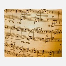 Music Sheet Throw Blanket