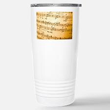 Music Sheet Stainless Steel Travel Mug