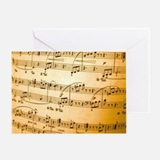 Music Sheet Greeting Card