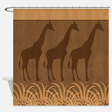 Three Giraffe Silhouettes Shower Curtain