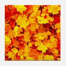 Maple Leaves Tile Coaster